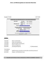 07/2008 vom 25.07.2008 - Birkenfeld