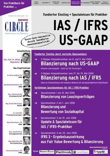 Bilanzierung nach US-GAAP Bilanzierung nach IAS / IFRS - Factbook