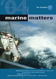 Marine Matters 29 November 2004 - The Standard Club