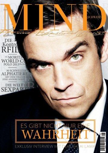 MIND Magazin - Das Schweizer MännerLifestyleMagazin Dezember 2012