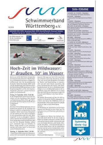schwimmen - Schwimmverband Württemberg eV