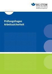 Prüfungsfragen Arbeitssicherheit - Die BG ETEM