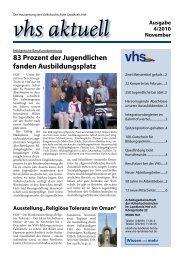 Ausgabe IV/2010 - Download - VHS Landkreis Hof