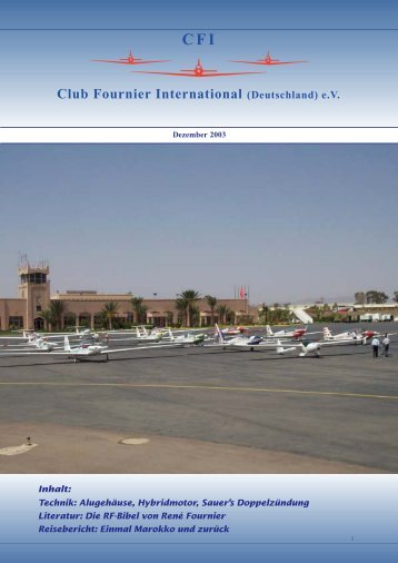 CFI Bulletin- December 2003 - Club Fournier International - scram!