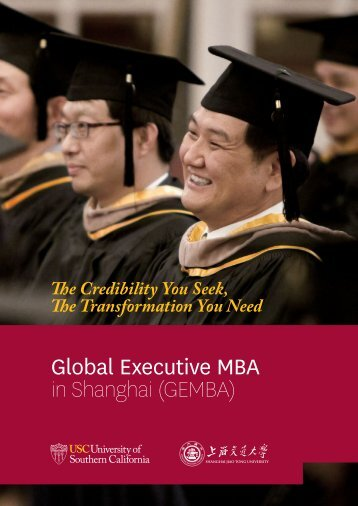 GEMBA - USC Marshall - University of Southern California