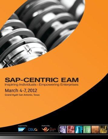 March 4 - 7, 2012 - SAP-Centric EAM