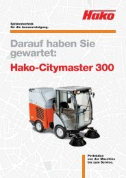 Hako-Citymaster 300 - Stangl Reinigungstechnik GmbH