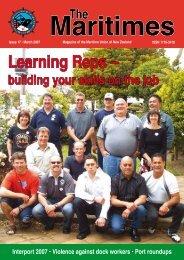 Maritimes magazine, March 2007 - Maritime Union of New Zealand