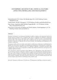 enterprise architecture: critical factors affecting modelling - LSE ...
