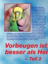 – Teil 2 - vogeltierarzt.de