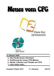 Neues vom CFG - Heft 32 - Frühjahr 2012 (PDF