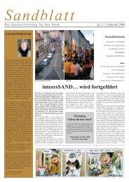Bamberg 26.02.2007 Sandblatt - Leben findet Innenstadt