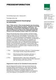 Pressemitteilung zum Download als PDF-Datei - VBH Holding