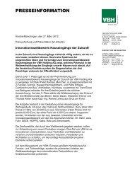 Pressemitteilung (komplett) zum Download als PDF-Datei - VBH Holding