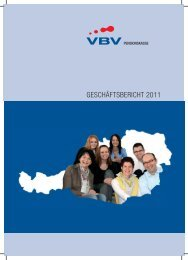 Geschäftsbericht 2011_neu.indd - VBV-Pensionskasse AG