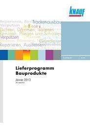Knauf_Bauprodukte_Lieferprogramm_Jaenner2013