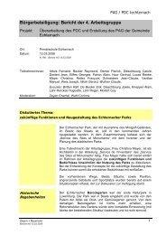 Bürgerbeteiligung: Bericht der 4. Arbeitsgruppe - Echternach