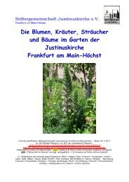 Die Blumen, Kräuter, Sträucher und Bäume im Garten der ...