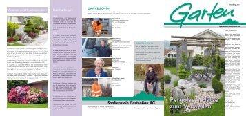 Die Gartenzeitung Frühling 2012 - Spaltenstein Gartenbau AG