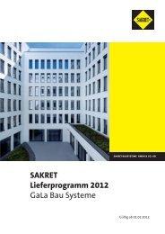 SAKRET Lieferprogramm 2012 GaLa Bau Systeme