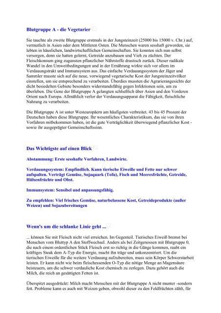 Blutgruppe A - die Vegetarier - auf loaditup.de