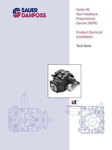 Series 90 Non Feedback Proportional Electric Control - Sauer-Danfoss