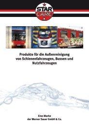 Waschprodukte für LKW- & Schienenfahrzeug Anlagen