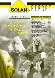 Der neue Solan-Report als PDF-Datei - Solan Kraftfutterwerk