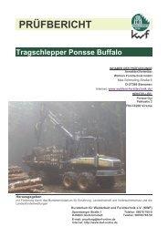 PRÜFBERICHT Tragschlepper Ponsse Buffalo