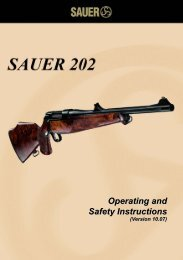 Operating and Safety Instructions - Sauer
