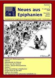 Dezember 2008 bis Februar 2009 - Epiphanien