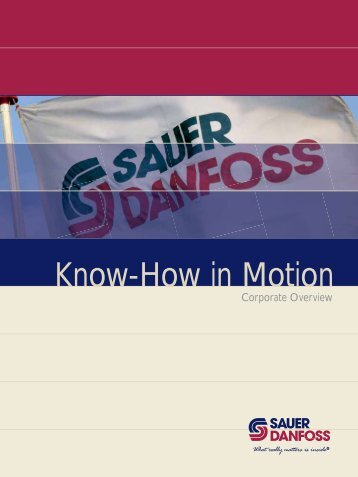 Know-How in Motion - Sauer-Danfoss