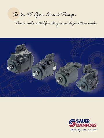 Series 45 Open Circuit Pumps - Sauer-Danfoss