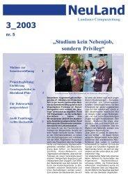 NeuLand - Universität Koblenz · Landau