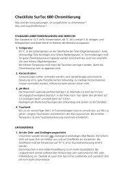 Checkliste Chromitierung (PDF-Datei, 84 KB) - Chromitierung - SurTec