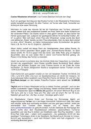 Sonntagsturnier vom 19.04.2009 - Spielbank Wiesbaden