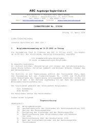 2006/02 Mitglieder-Versammlung - Augsburger Segler-Club e.V.