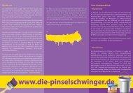 Werbeflyer - Malerbetrieb Sauer