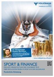 SpoRT & FINaNcE - Volksbank Tirol Innsbruck-Schwaz AG