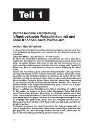 Baumgartner Luftgetrocknete Rohschinken - Fleischerzeitung