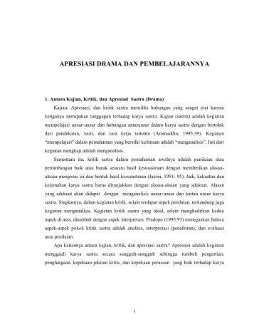 APRESIASI DRAMA DAN PEMBELAJARANNYA - File UPI