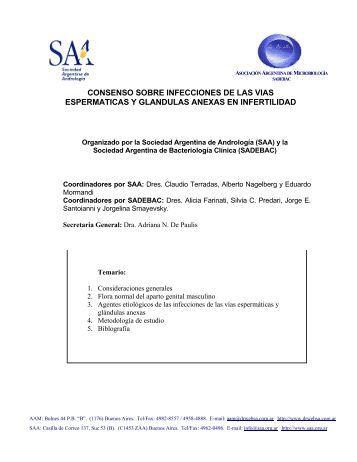 consenso sobre infecciones de las vias espermaticas y - Sociedad ...