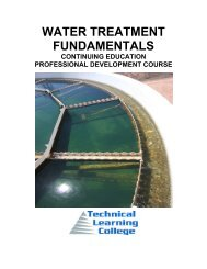 Water Treatment Fundamentals $250 - Technical Learning College