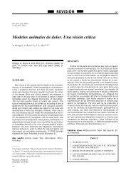 sufrimiento a los animales - Revista de la Sociedad Española del ...