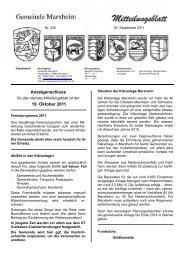 Mitteilungsblatt September 2011 - Marxheim