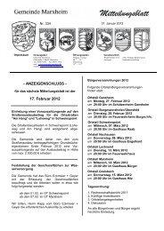 Mitteilungsblatt Januar 2012 - Marxheim