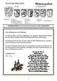 Eintragungszeiten Volksbegehren vom 17. - 30. Januar ... - Marxheim