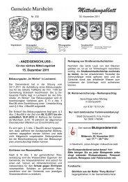 Mitteilungsblatt November 2011 - Marxheim