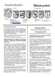 Mitteilungsblatt Oktober 2011 - Marxheim