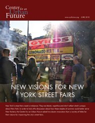 New Visions for New York Street Fairs - Center for an Urban Future